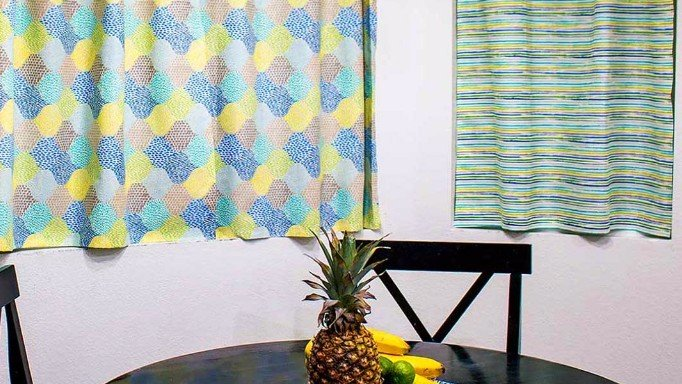no-sew fabric curtains