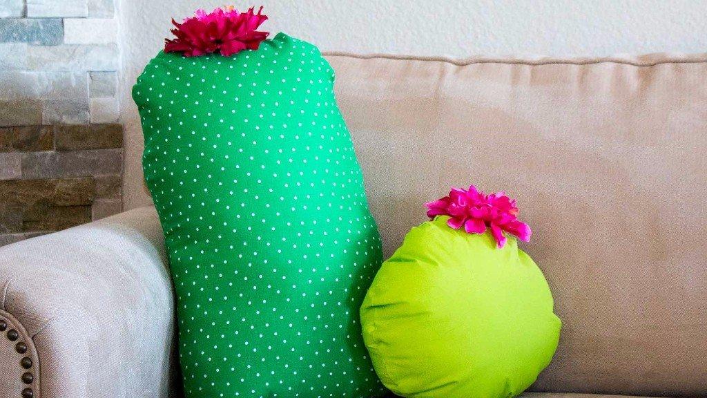 no-sew cactus pillows
