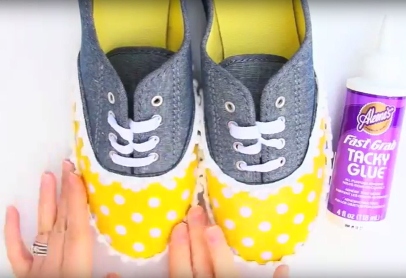 no-sew spring sneakers