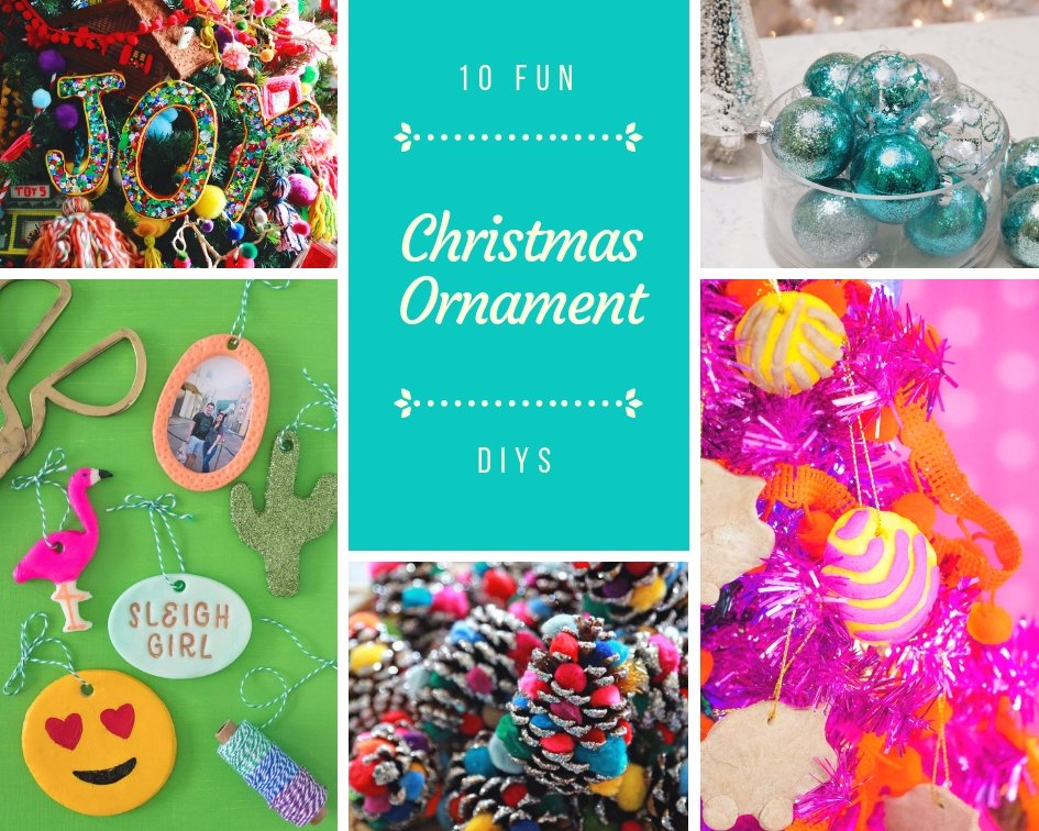 fun christmas ornament DIYs