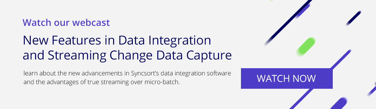 Watch our webcast: New Features in Data Integration and Streaming Change Data Capture