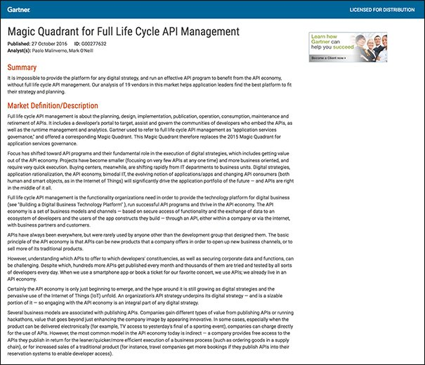 Top API Management Vendors