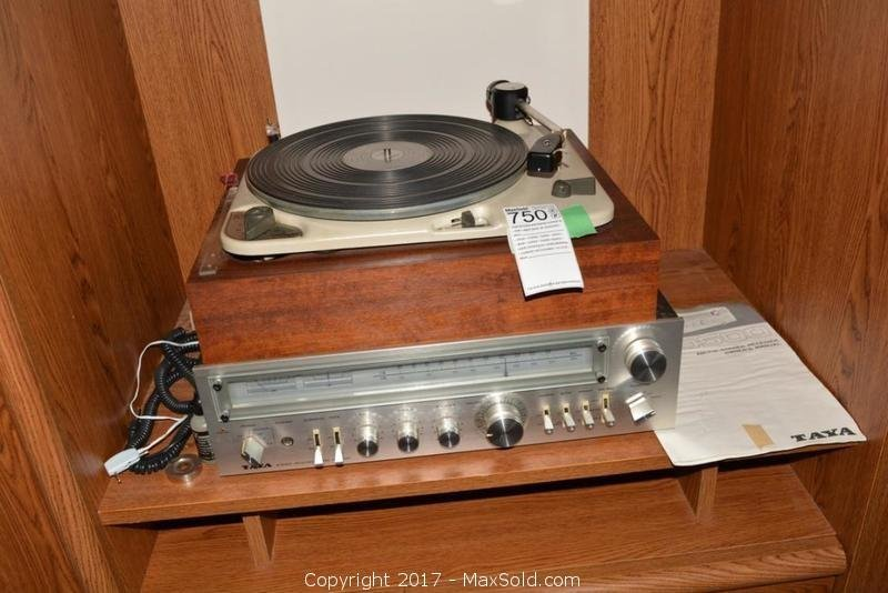 Turntable And Stereo Receiver