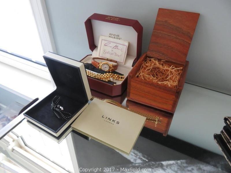 Links London Charm, 750 Gold Bracelet, Anne Klein Watch