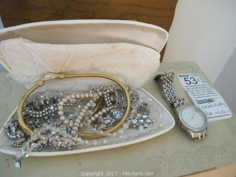 Costume Jewelry And Boxes