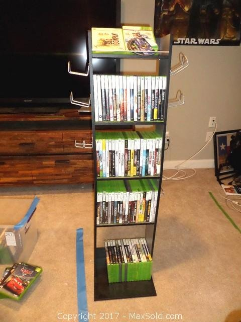 Xbox 360 Games And Cabinet