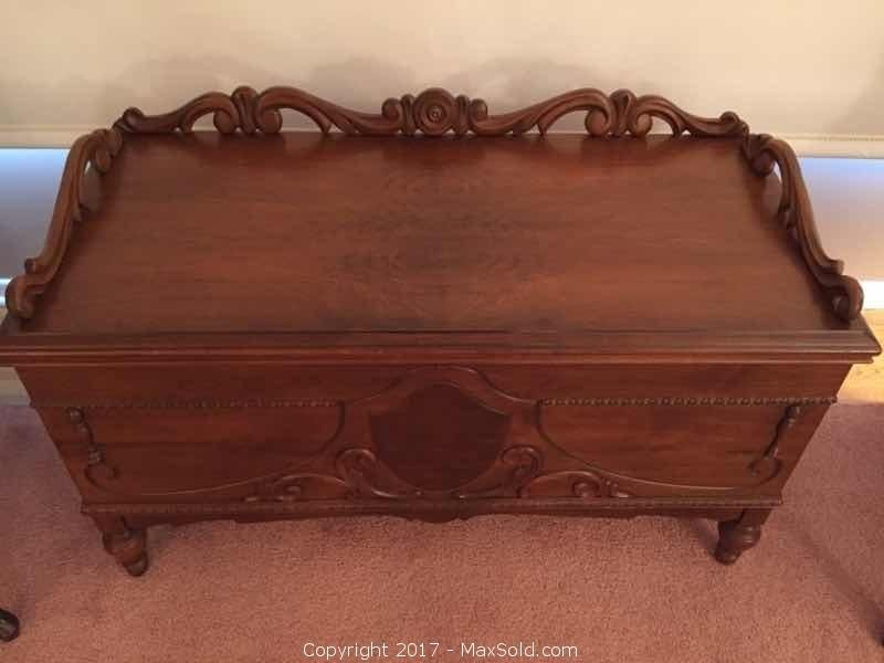 Antique Heirloom Solid Wood Cedar Chest