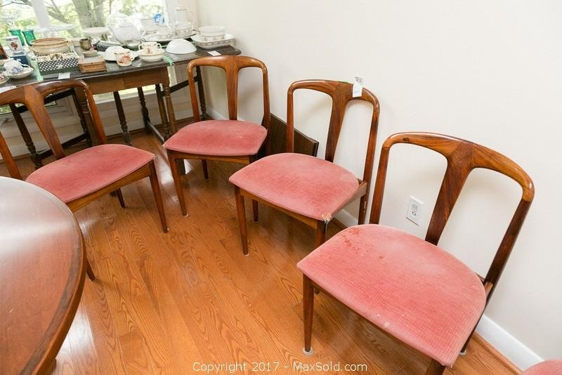 Six Teak Dining Chairs