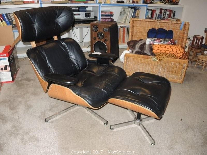 Eames Style Chair And Foot Stool