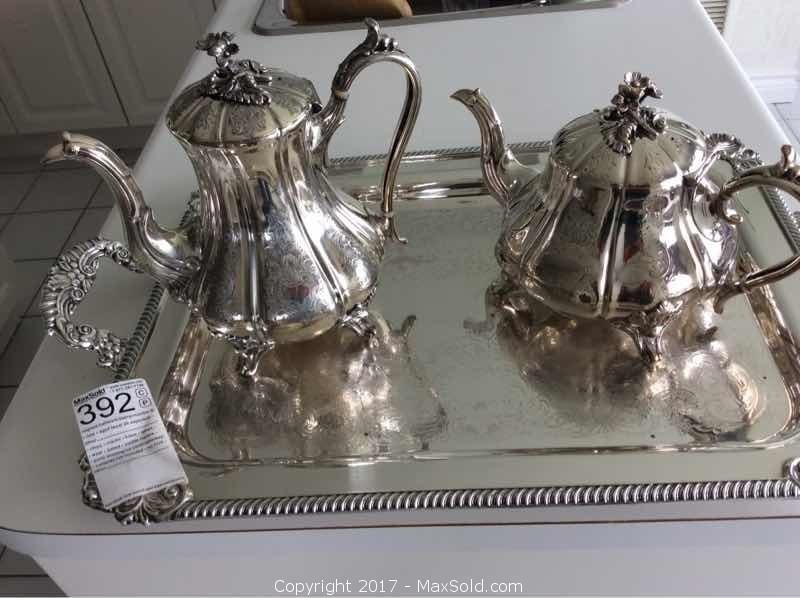 Silver Tea, Coffee And Tray