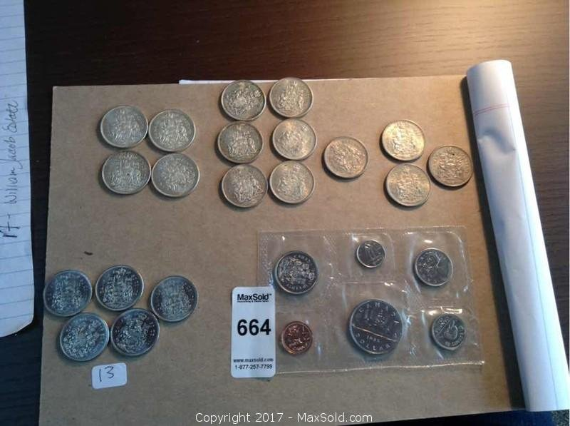Canadian Silver 50 Cent Pieces
