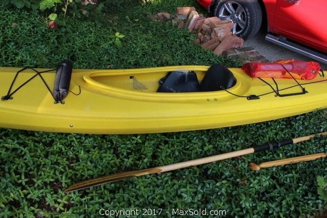 Kayak And Paddles
