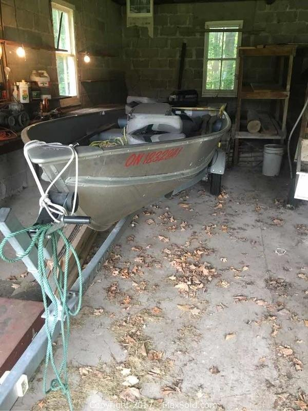 14 Ft Lund Fishing Boat And Trailer