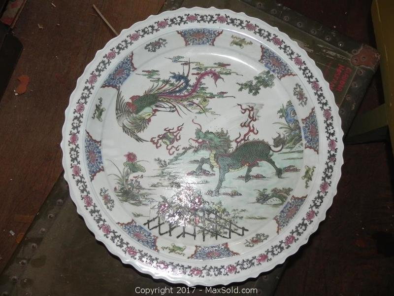 Antique Chinese Export Porcelain Platter