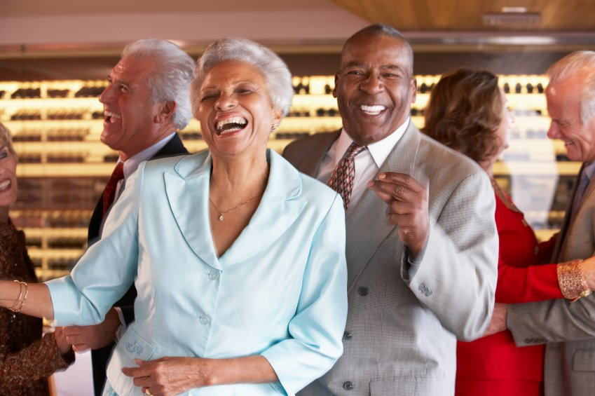 Happy Couple with Medicare Advantage Dancing