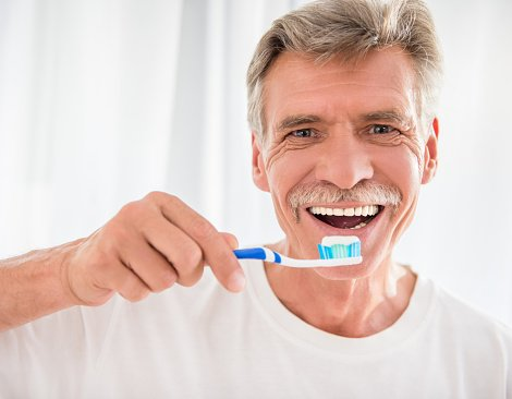 senior with great dental insurance