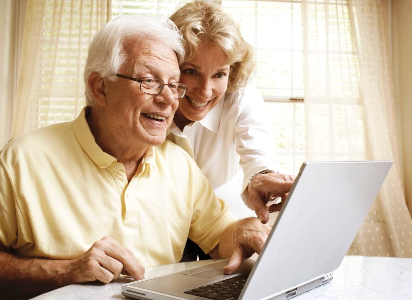Smiling Couple with Medicare Part C
