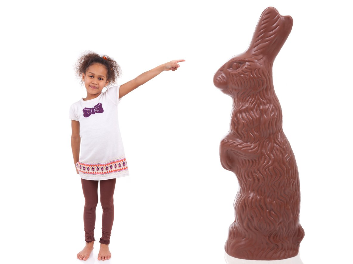 Largest chocolate bunny. Chocolate facts.