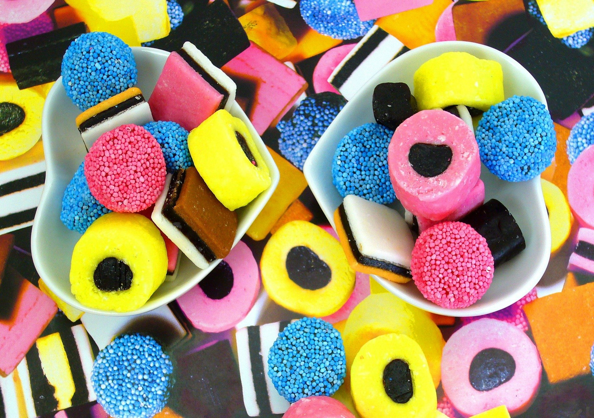 Black licorice candy
