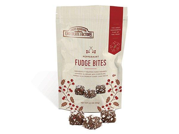 Peppermint fudge bites for christmas