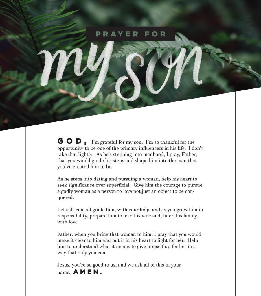 graphic relating to Printable Prayers known as Printable Prayers for Your Sons Daughters Tyndale Weblog