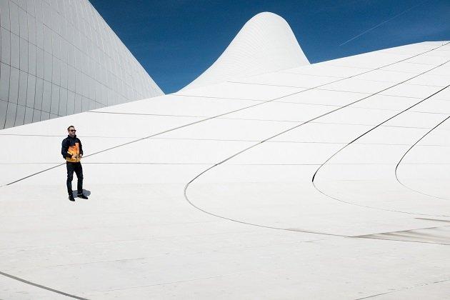 Man on White