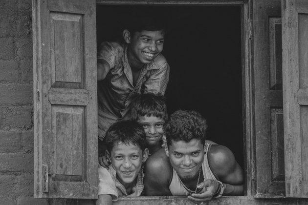 Boys in Window
