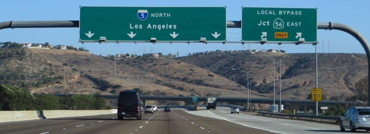Interstate road in America