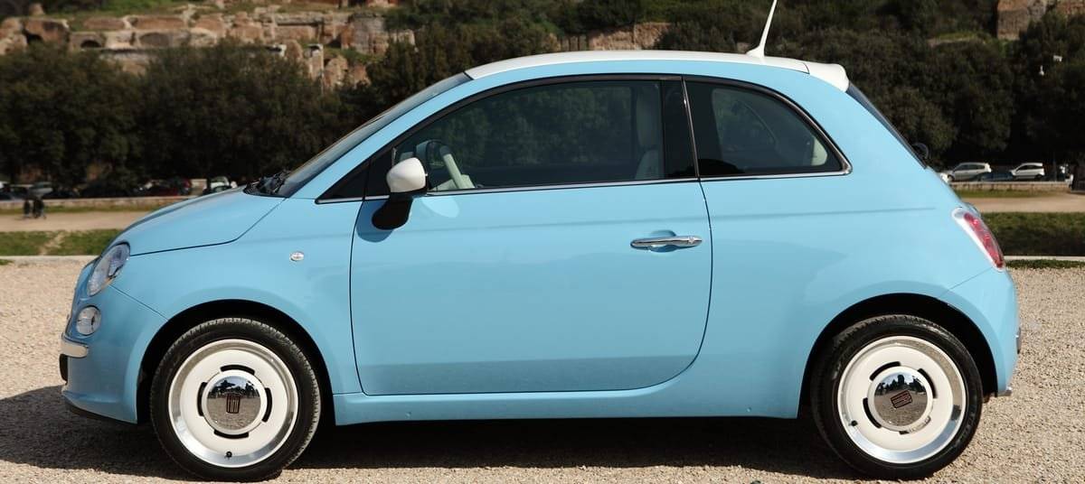 used Fiat 500 side view