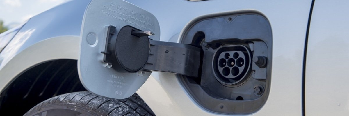 Kia Optima plug in hybrid charging point
