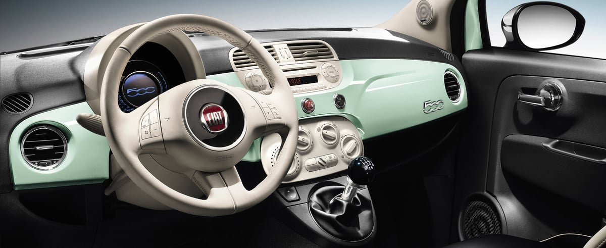 used Fiat 500 interior view