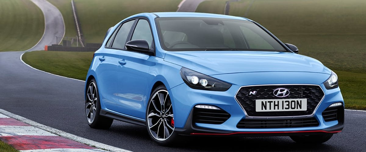 Hyundai i30N on the track