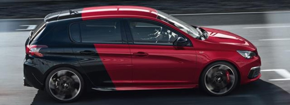 Peugeot 308 GTi in Ultimate Red