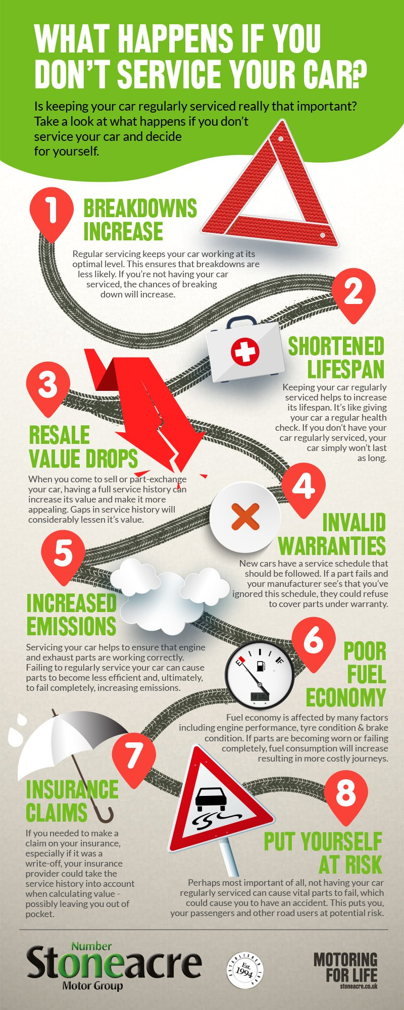 what happens if you don't service your car infographic