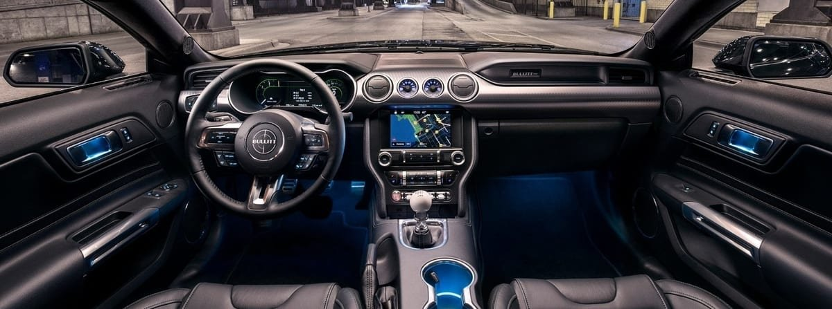 Mustang Bullitt interior view