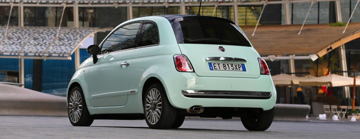 used Fiat 500 rear view