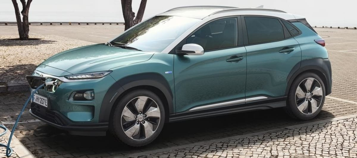 Hyundai Kona on charge