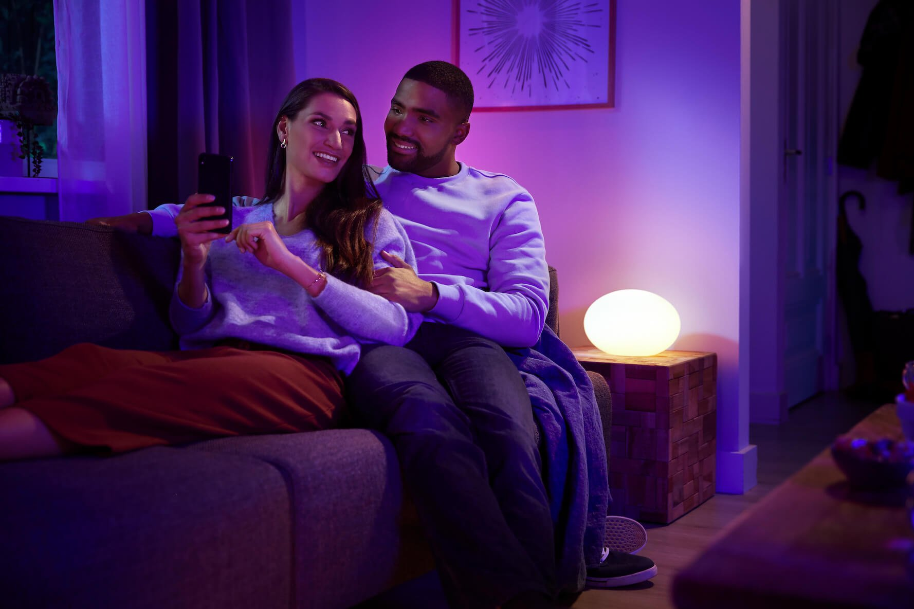 Set the mood with your phone and smart lighting