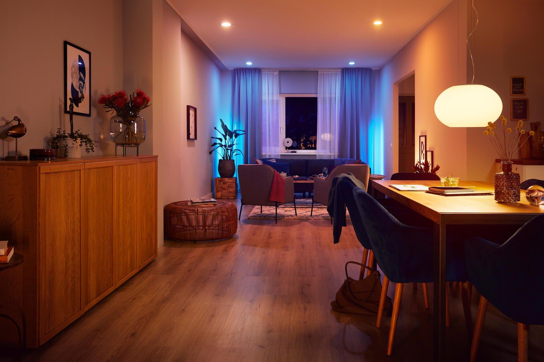 Energy efficient Smart LED lighting in your living room