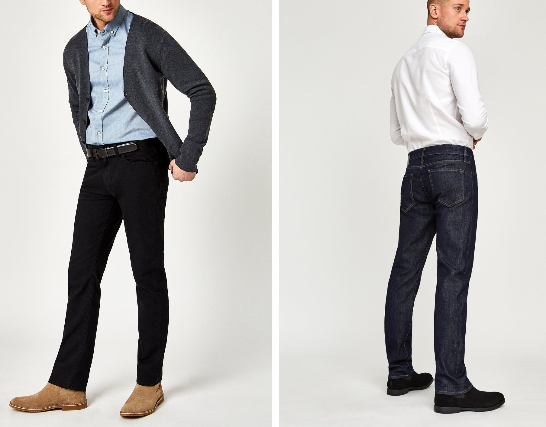 How to dress up dark jeans