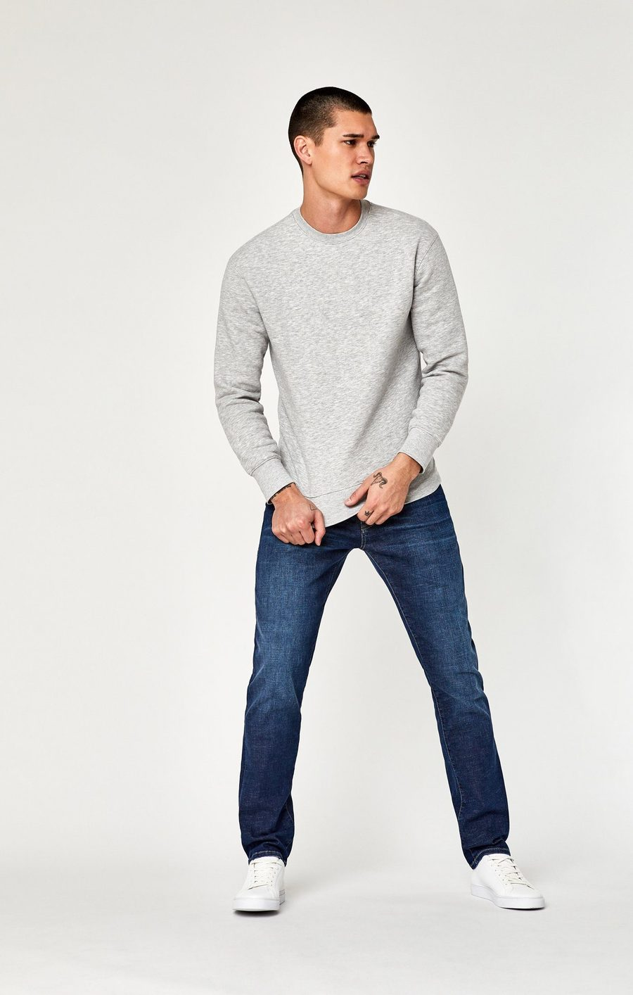 James Skinny Jeans in Dark Brushed Cashmere