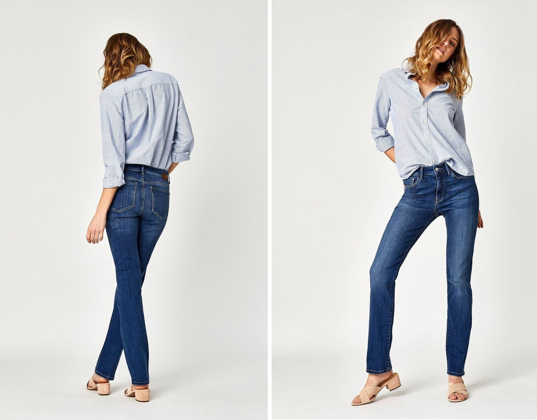 Kendra High Rise Straight Leg Jeans